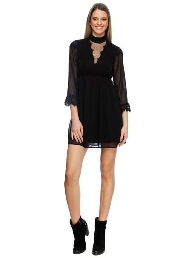 Vero Moda Vero Moda 10195945 Polyester Kadın Elbise Siyah